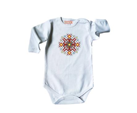 Бебешко боди с щампа български мотив 68см 6 9мес