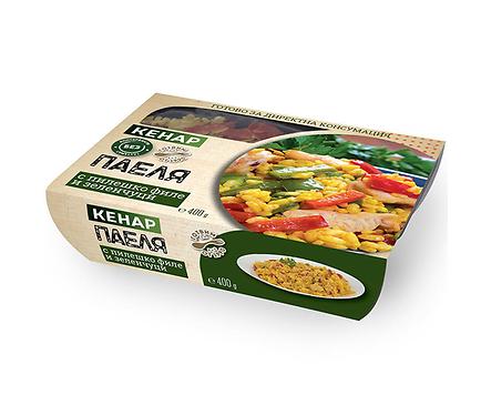 Кенар Паеля с пиле и зеленчуци 400 г