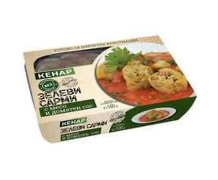 Кенар Зелеви сарми с месо и доматен сос 500 г