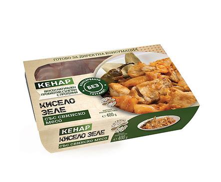 Кенар Кисело зеле със свинско месо 400 г