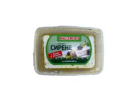 Нашенско Сирене от краве мляко с билки и зехтин PVC кутия 180 г