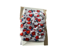 Безшевен шал бандана маска с щампа български шевици бяла