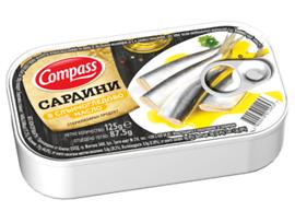 Компас сардини в слънчогледово масло 125 г