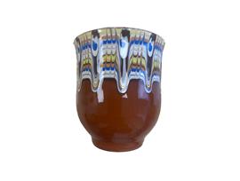 Чаша с троянска шарка кафява