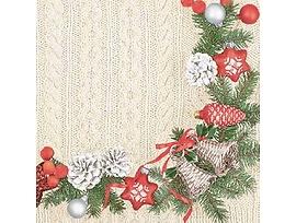Салфетки Коледен венец подходящи и за декупаж