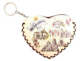 Портмоне с цип и халка във формата на сърце различни картинки