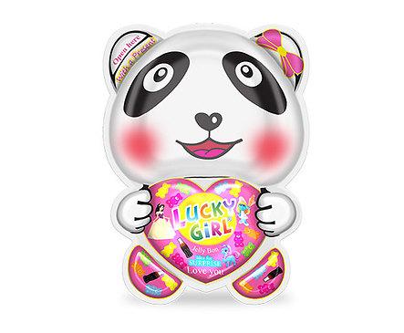 Lucky Girl панда желибон с подарък за момиче 65 г