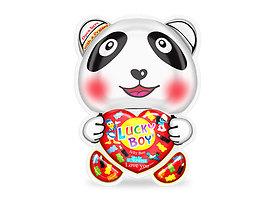 Lucky boy панда желибон с подарък за момче 65 г