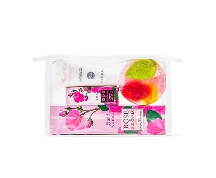 Комплект Роза крем за ръцебалсам за устни крем за лице и сапун 250 г