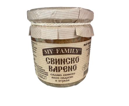Хорцето смляно свинско месо в буркан тип русенско варено My Family 350 г