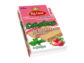 БГ Лайн Вафли с ягодов пълнеж и подсладител Стевия 90 г
