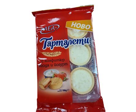 АЕА Тарталети с конфитюр ягода и йогурт 186 г