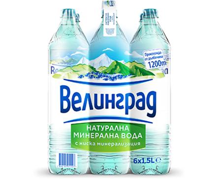 Минерална вода Велинград Alcalia 1500 л кутия 6 бр