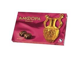 Шоколадови бонбони Амфора ягода 135 г