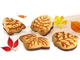 Бисквити Есенни листа с какаово млечна глазура 190 г