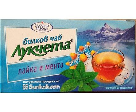 Билков чай Лукчета лайка и мента 24 г