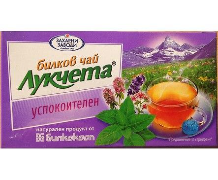 Билков чай Лукчета Успокоителен 24 г