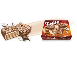 Чудо Вафлена торта с кокос и млечна глазура 210 г