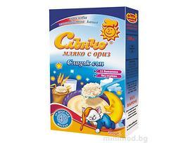 Слънчо Бебешка каша мляко с ориз 4 200 г