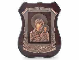 Икона Дева Мария лазерна графика 19х15см с кутия