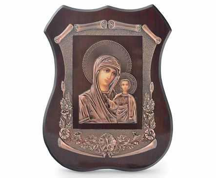 Икона Дева Мария лазерна графика 19х15см с кутия кутия 0 бр