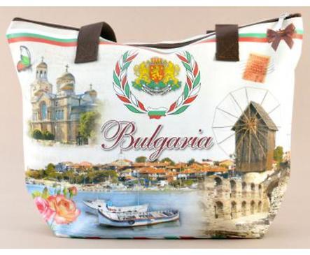Дамска чанта с картини от България